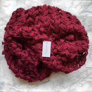 Francesca's  burgundy knit infinity scarf